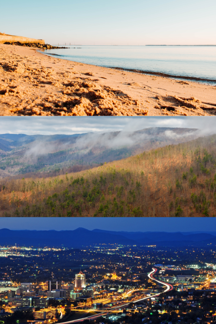 Discounted nightly rates at hotels in Virginia in the mountains & Virginia Beach area
