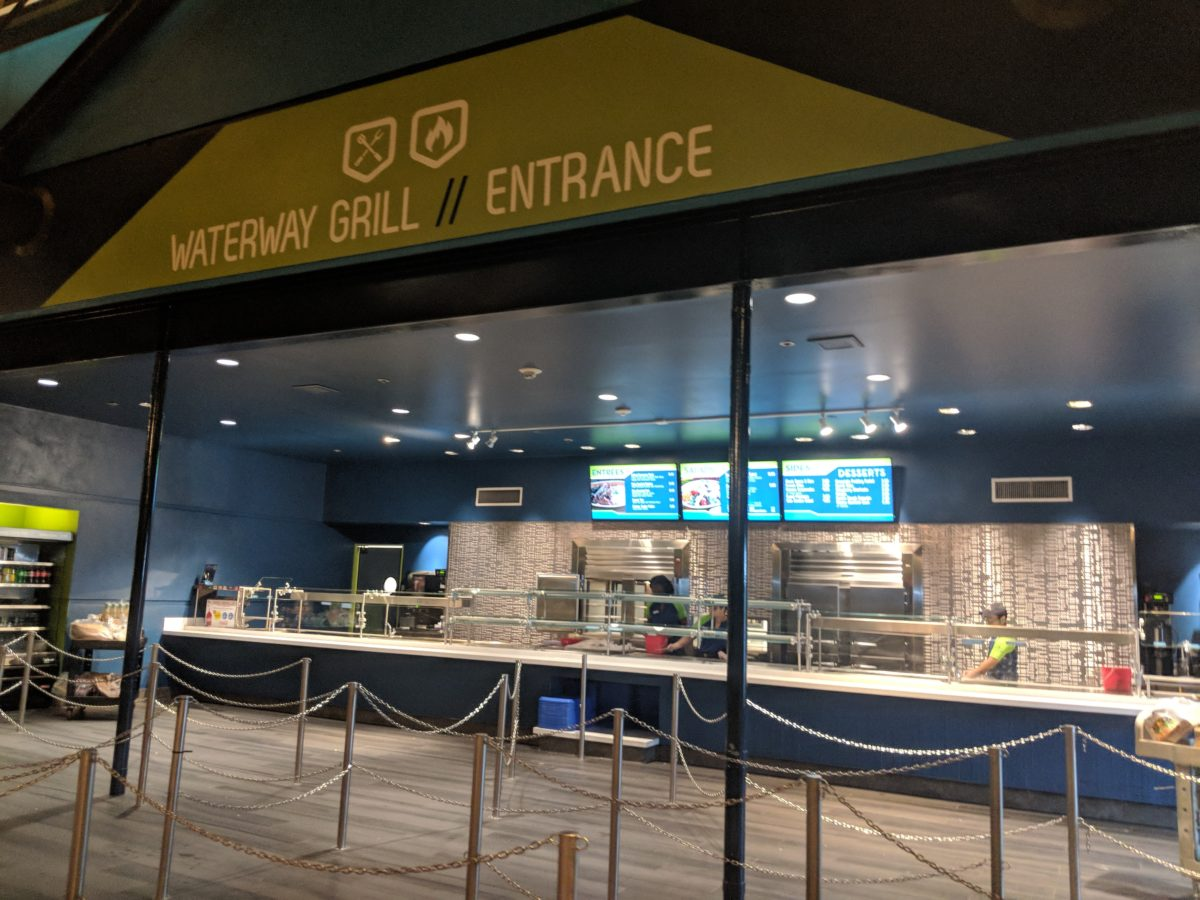 Waterway Grill is a quick service restaurant at SeaWorld Orlando