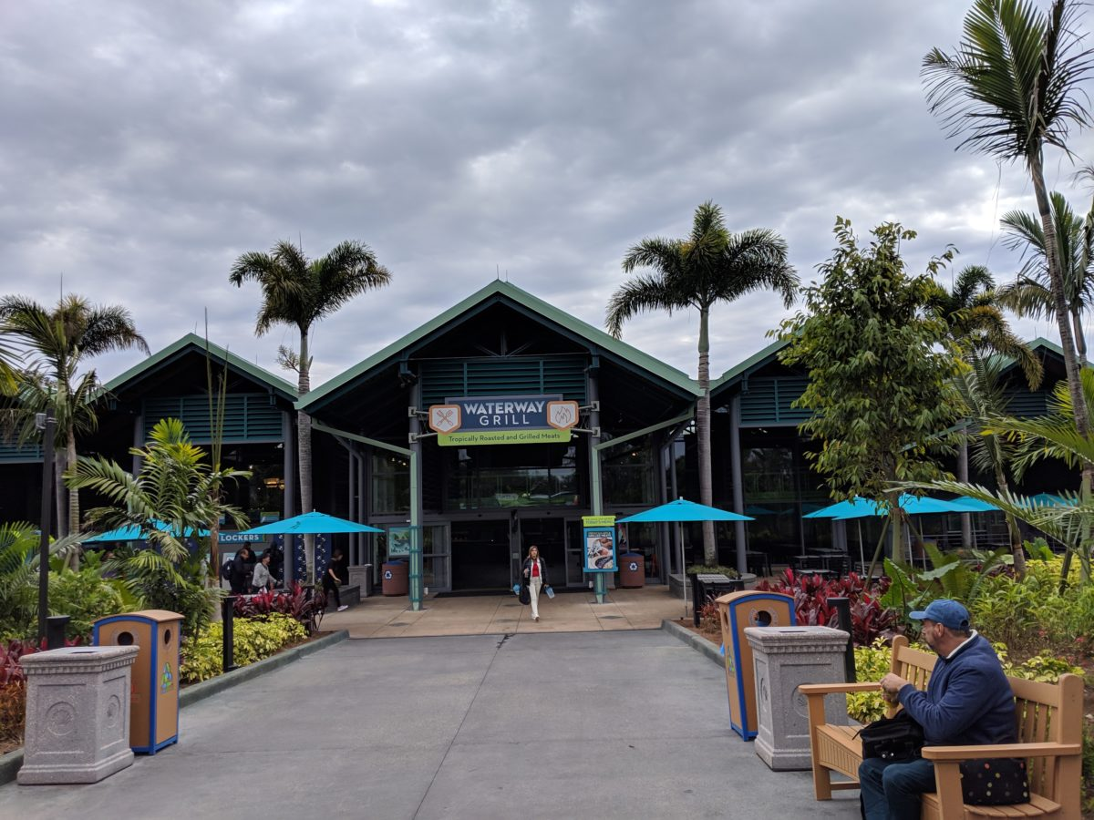 Waterway Grill is an indoor restaurant at SeaWorld Orlando near Infinity Falls
