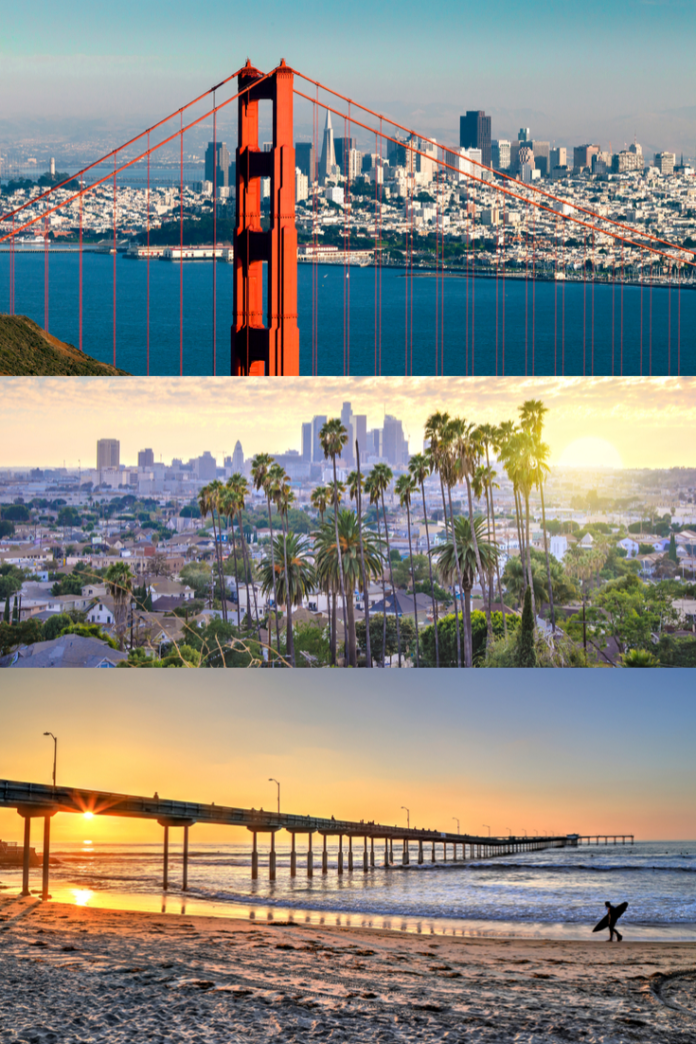 Discounted nightly rates at hotels in San Francisco, Los Angeles & San Diego, California