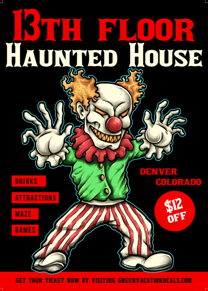 Discount ticket to the 13th Floor Haunted House in Denver, Colorado