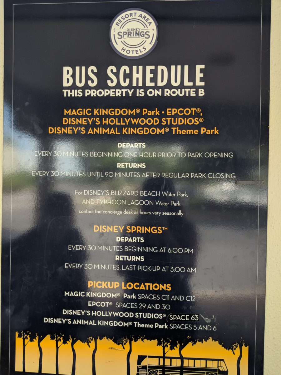 Hilton Orlando Buena Vista Palace has busses to the Disney theme parks running every 30 minutes