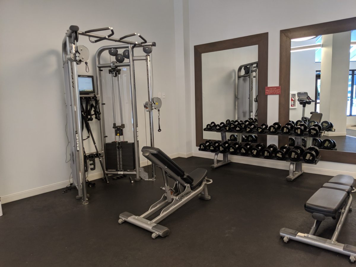 You can lift weights during your Disney World vacation by staying at Hilton Orlando Buena Vista Palace