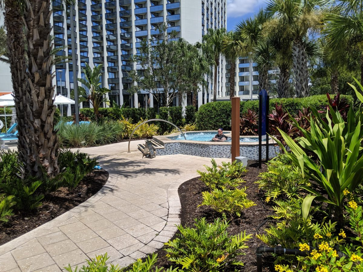 A picture of the hot tub available at Hilton Orlando Buena Vista Palace Disney Springs