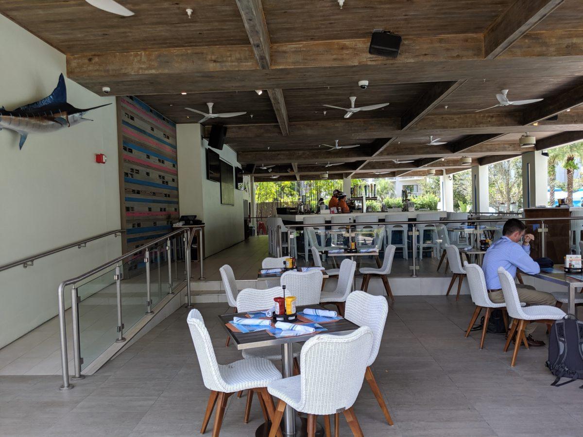 Enjoy poolside dining at Shades at Hilton Orlando Buena Vista Palace at Disney World