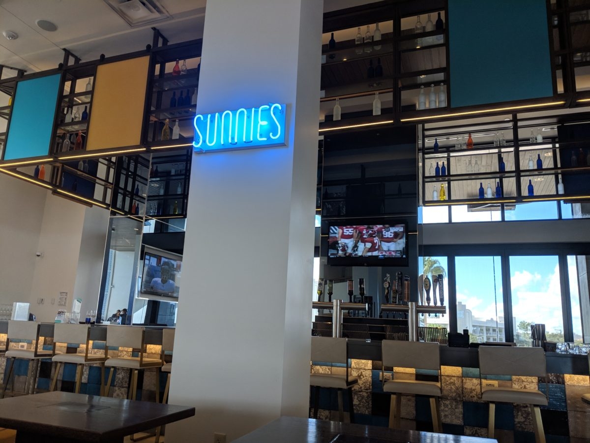Cap your Disney World night off with drinks at Sunnies, a Hilton Orlando Buena Vista Palace onsite bar