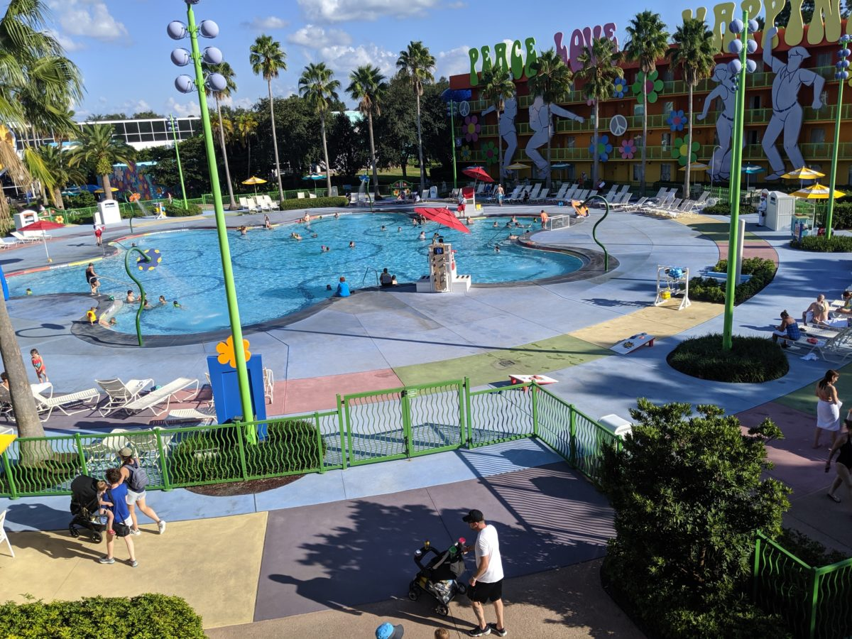 Getting a preferred room at Disney's Pop Century Resort means you're closer to the pool, food court & Skyliner Transportation System