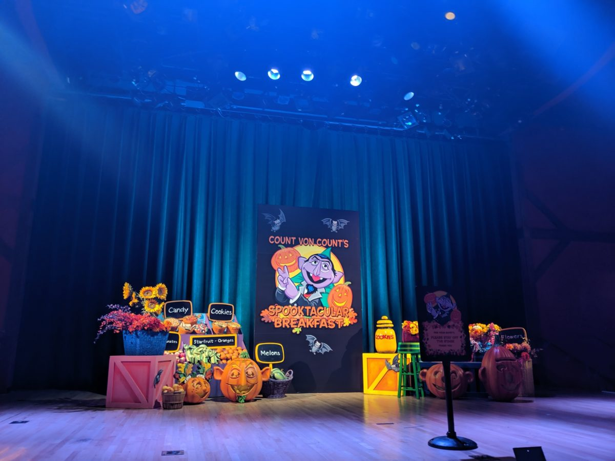 Seafire Grill in SeaWorld theme park in Orlando Florida has Halloween themed Sesame Street character meals
