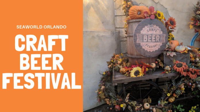 Find out what food & beer are available at SeaWorld Orlando's Craft Beer Festival & how to get discount tickets