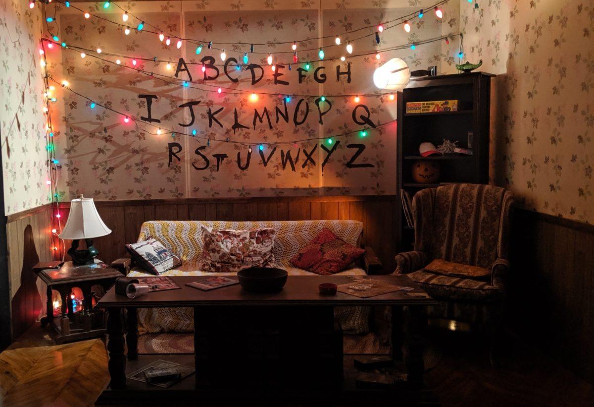 Stranger Things Season One Byers Living Room Christmas Lights