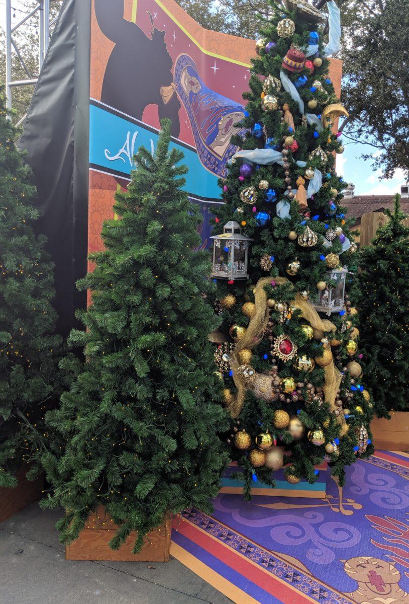New Aladdin Christmas tree at Disney Springs Christmas Tree Trail