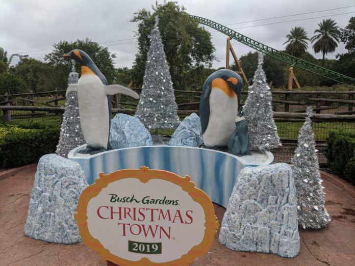 A virtual tour of 2019 Opening Day of Busch Gardens Christmas Town in Tampa Bay