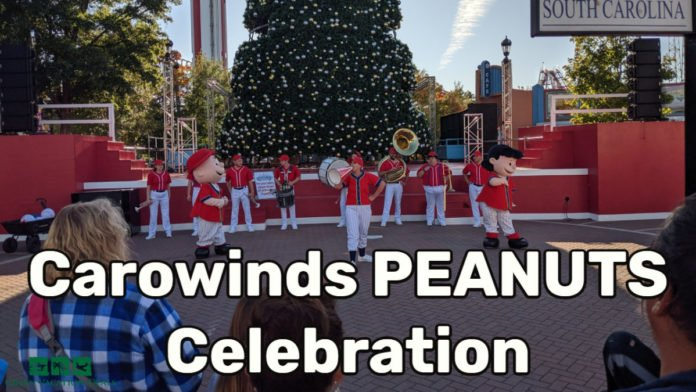 A description & video of the entertainment at PEANUTS Celebration at Carowinds theme park in Charlotte, NC