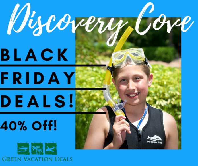 40% off Discovery Cove in Orlando, Florida as part of Black Friday Sale