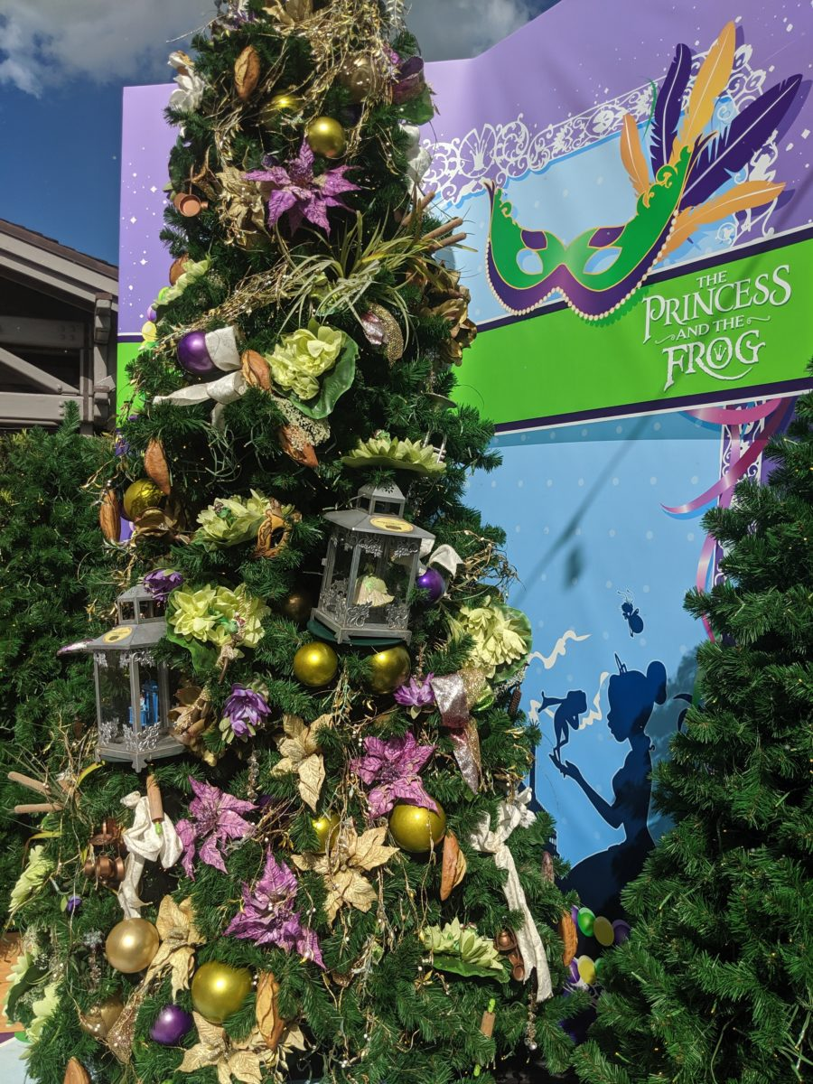 The Princess & Frog tree at Disney Springs Christmas Tree Trail