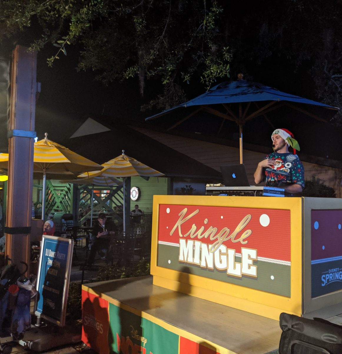 Kringle Mingle at Disney Springs in Orlando, Florida is a DJ Dance Party