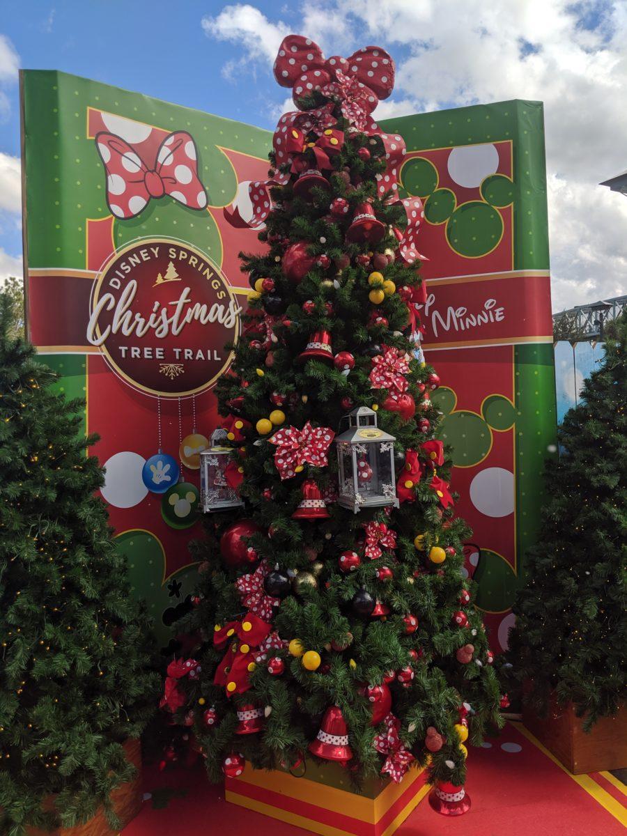 Disney Christmas Tree Trail at Disney Springs in Orlando, Florida