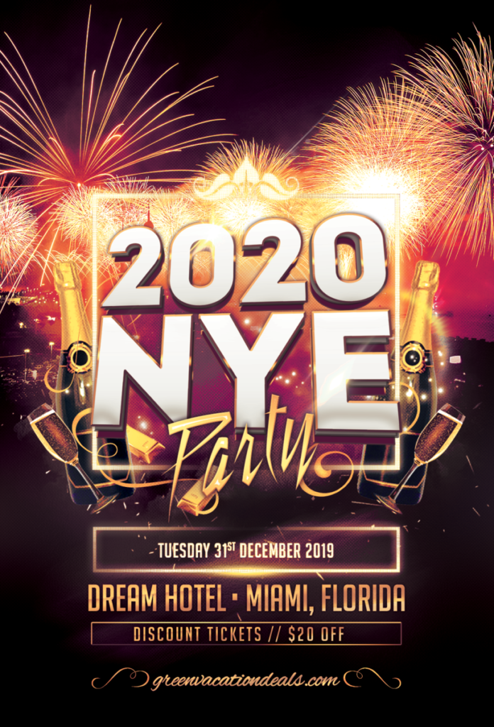 Discount ticket to rooftop New Year's Eve Party in Miami, Florida