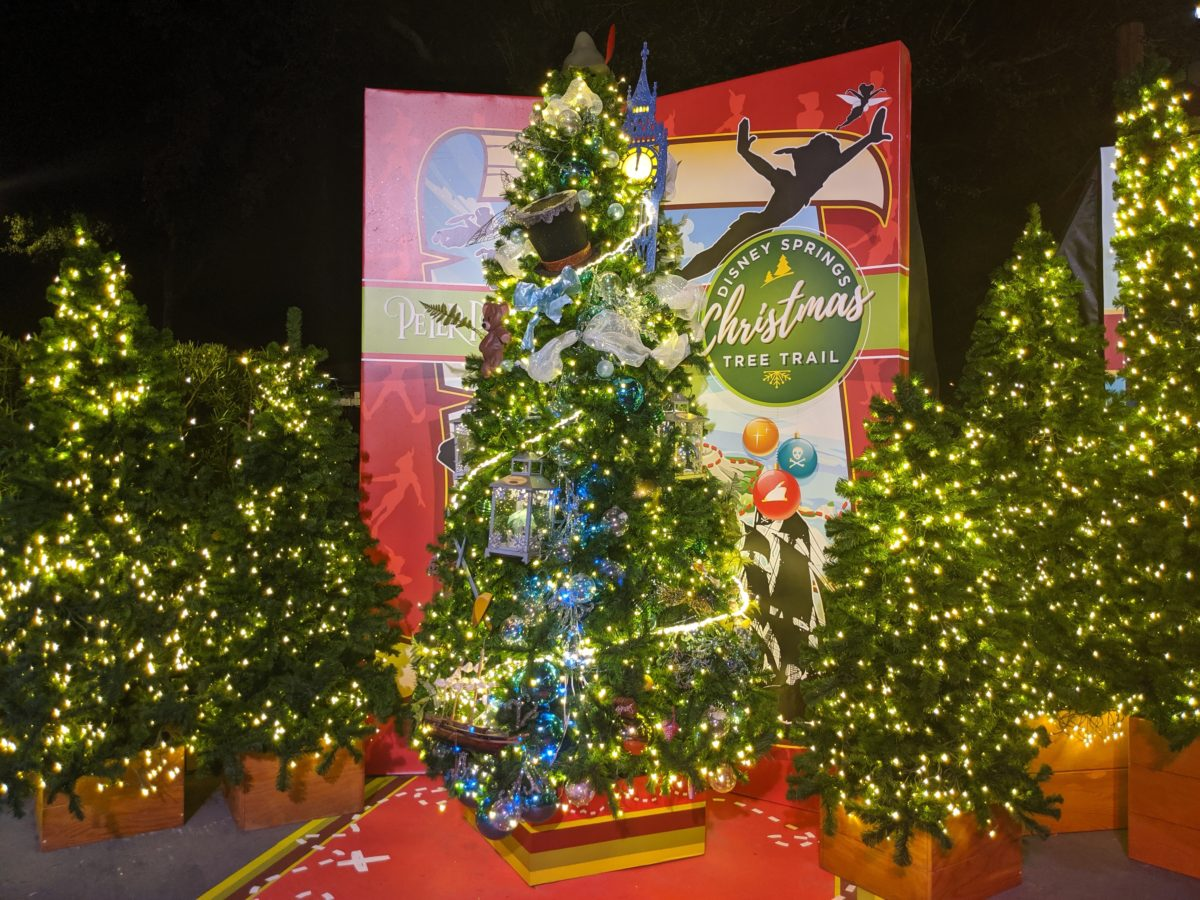 Peter Pan is a great tree at the Disney Springs Christmas Tree Trail in Orlando