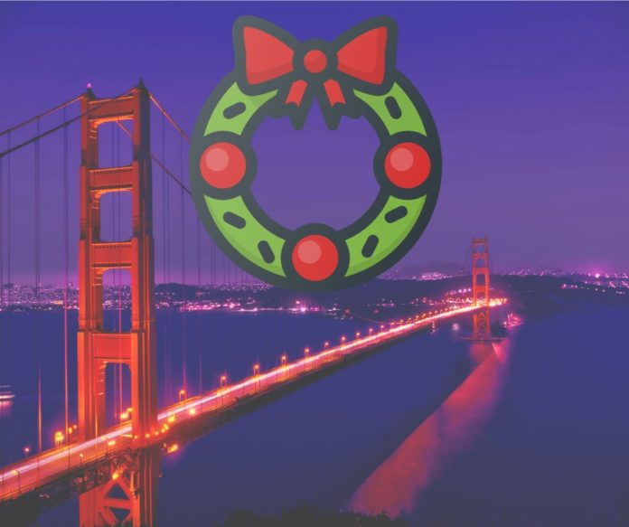 Enjoy a Christmas Eve dinner cruise in San Francisco, California