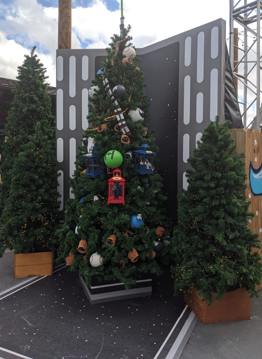 Star Wars is featured in the Disney Springs CHristmas Tree Trail