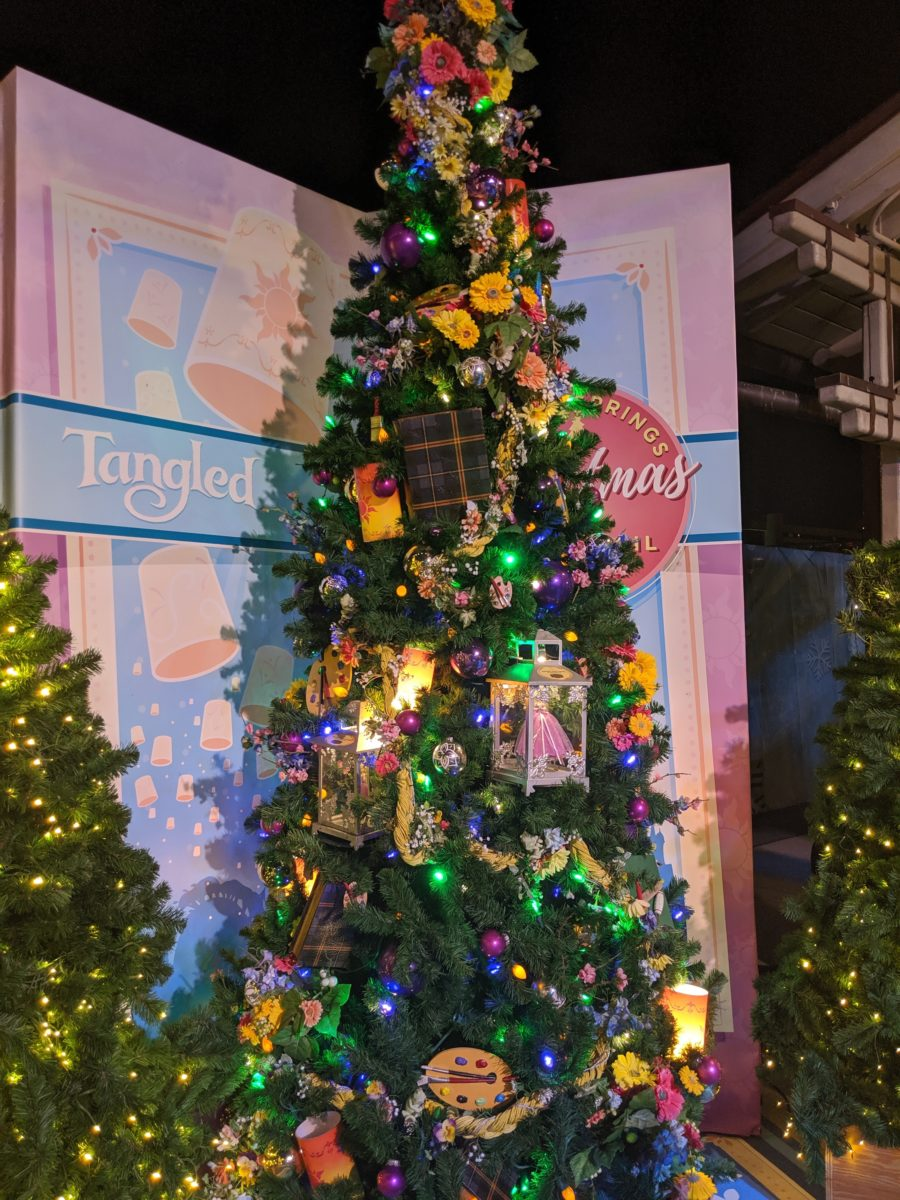 Tangled is one of the best trees at the Christmas Tree Trail at Disney Springs