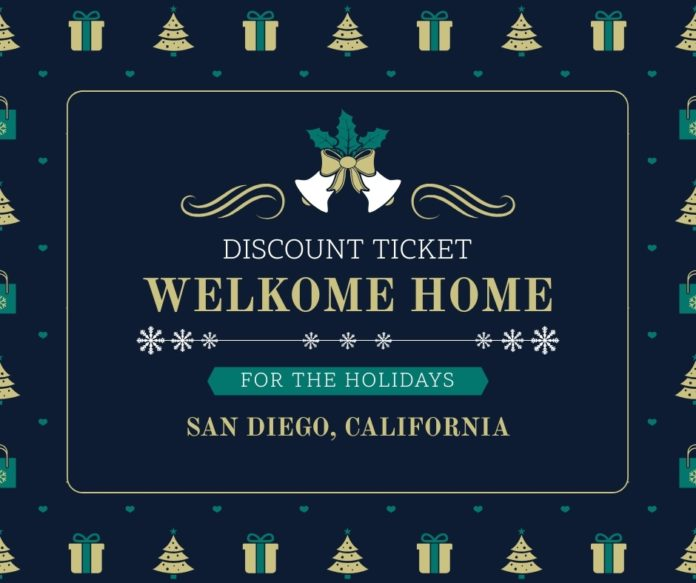 Discount ticket for Welkome Home For The Holidays In San Diego, California
