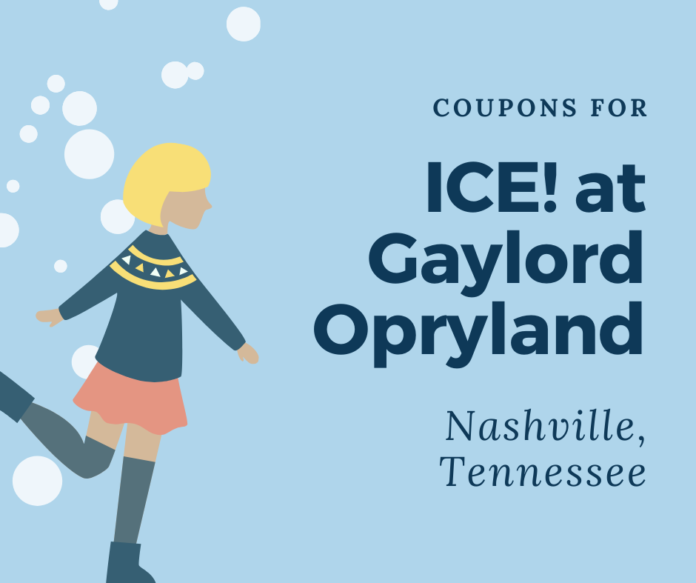 Find out how to get coupons for ICE! at Gaylord Opryland in Nashville