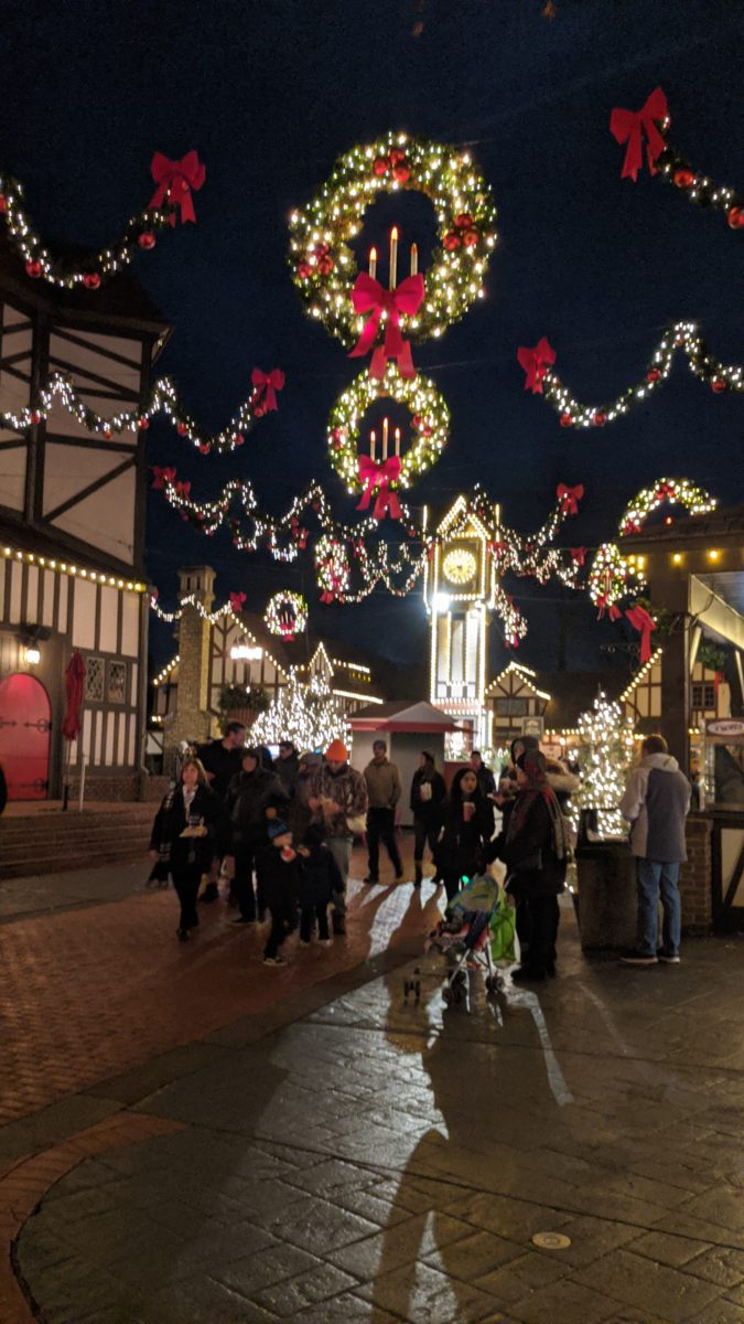 Christmas Town at Busch Gardens Williamsburg theme park has a beautiful London, England section
