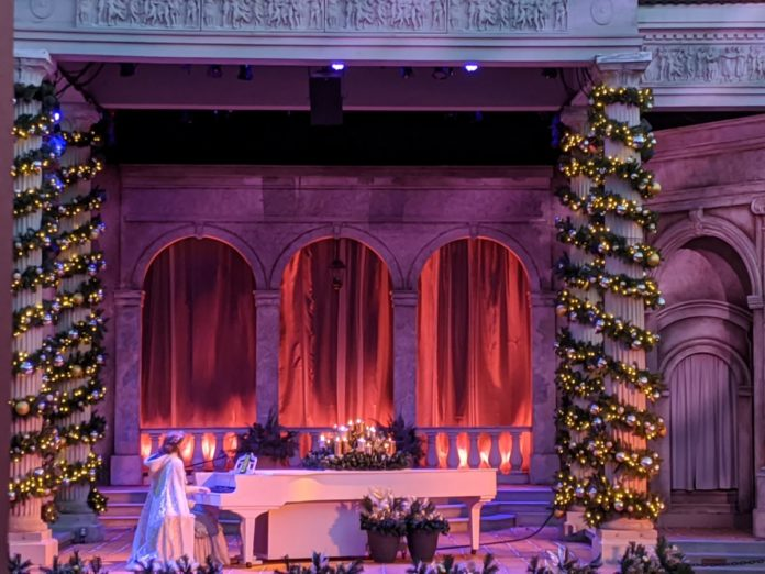 A picture of Believe, the new solo holiday act at Busch Gardens Christmas Town in Williamsburg, Virginia