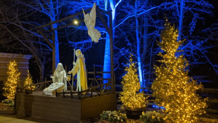 The nativity scene at Busch Gardens Christmas Town in Williamsburg, Virginia