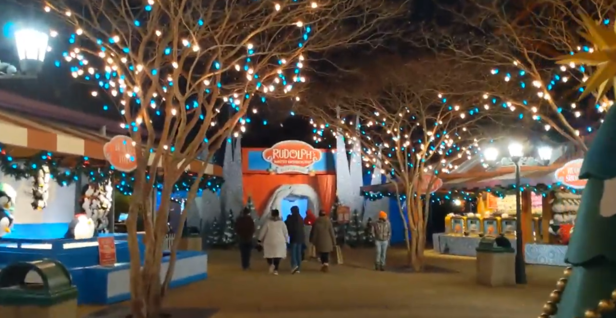 Holiday Hills is the part of Busch Gardens Christmas Town where you can meet Rudolph
