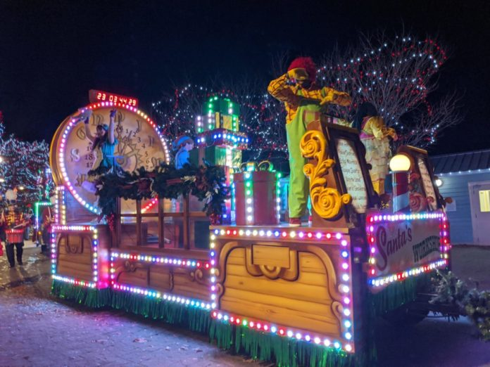 Video of Carowinds Winterfest new Wonderland Parade in Charlotte, NC