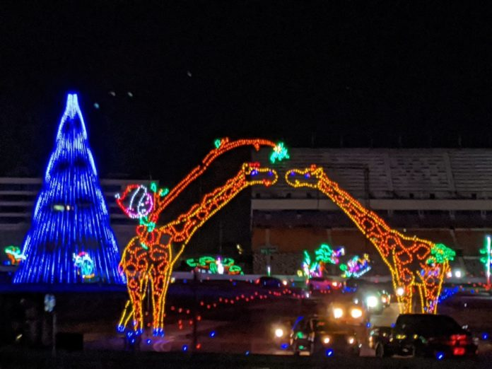 See video tour of nativity scene, rides, Christmas lights & more at Charlotte Motor Speedway during the holiday season