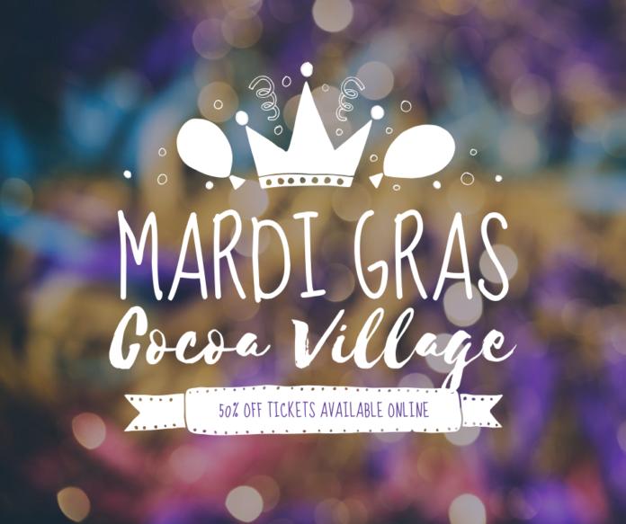 Discount ticket to Cocoa Village Mardi Gras event in Florida