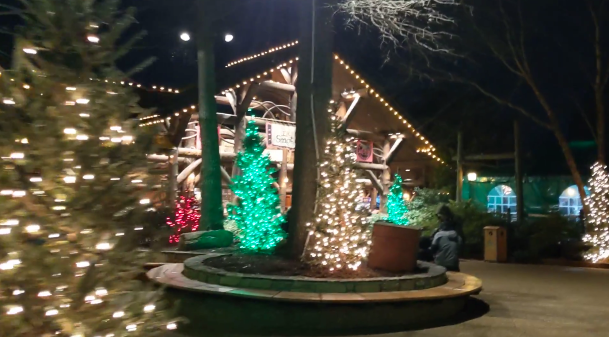 A picture of New France at Busch Gardens Christmas Town in Williamsburg, Virginia