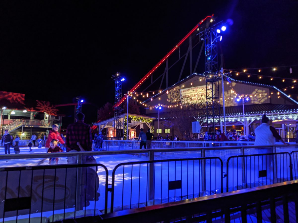 A picture of Snow Flake Lake Ice Skating at Carowinds' Winterfest event