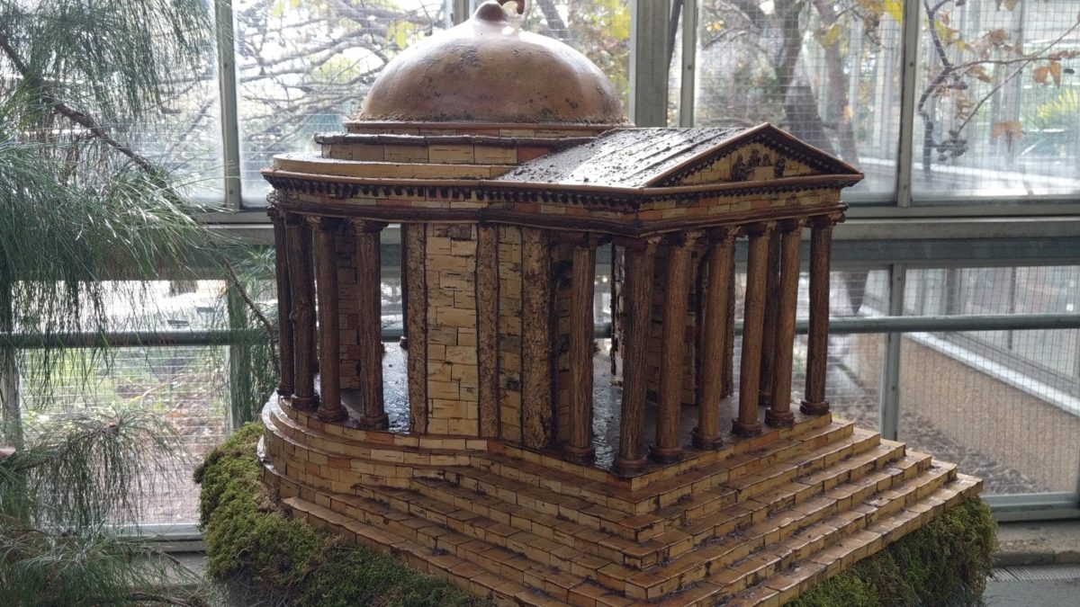 The conservatory at United States Botanic Gardens in Washington DC is full of replications of DC monuments during the Christmas exhibits