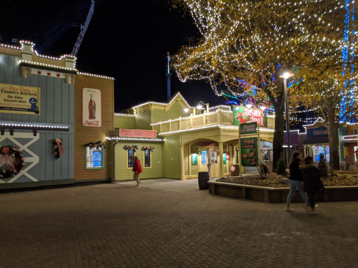 A picture of the Blue Ridge Country Christmas at Winterfest at Carowinds theme park