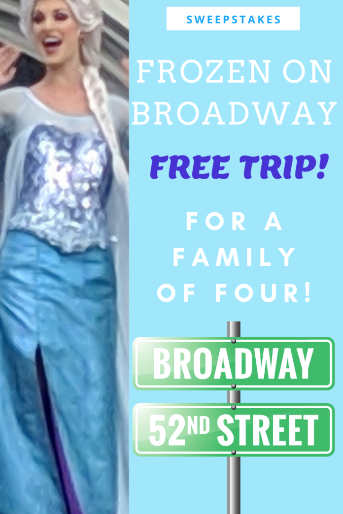 How to win a free trip to New York City & see Frozen on Broadway