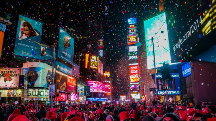 Get great views of the fireworks and ball drop from this New Year's Eve Times Square Party
