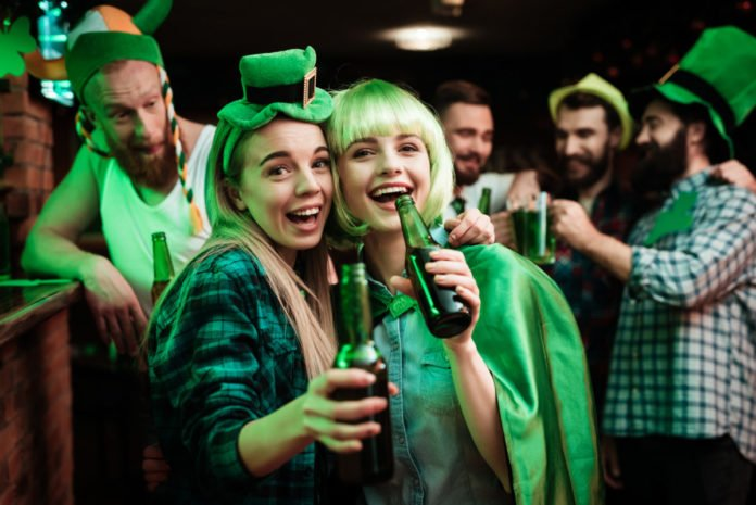 St. Patrick's Day bar crawl in Nashville, Tennessee