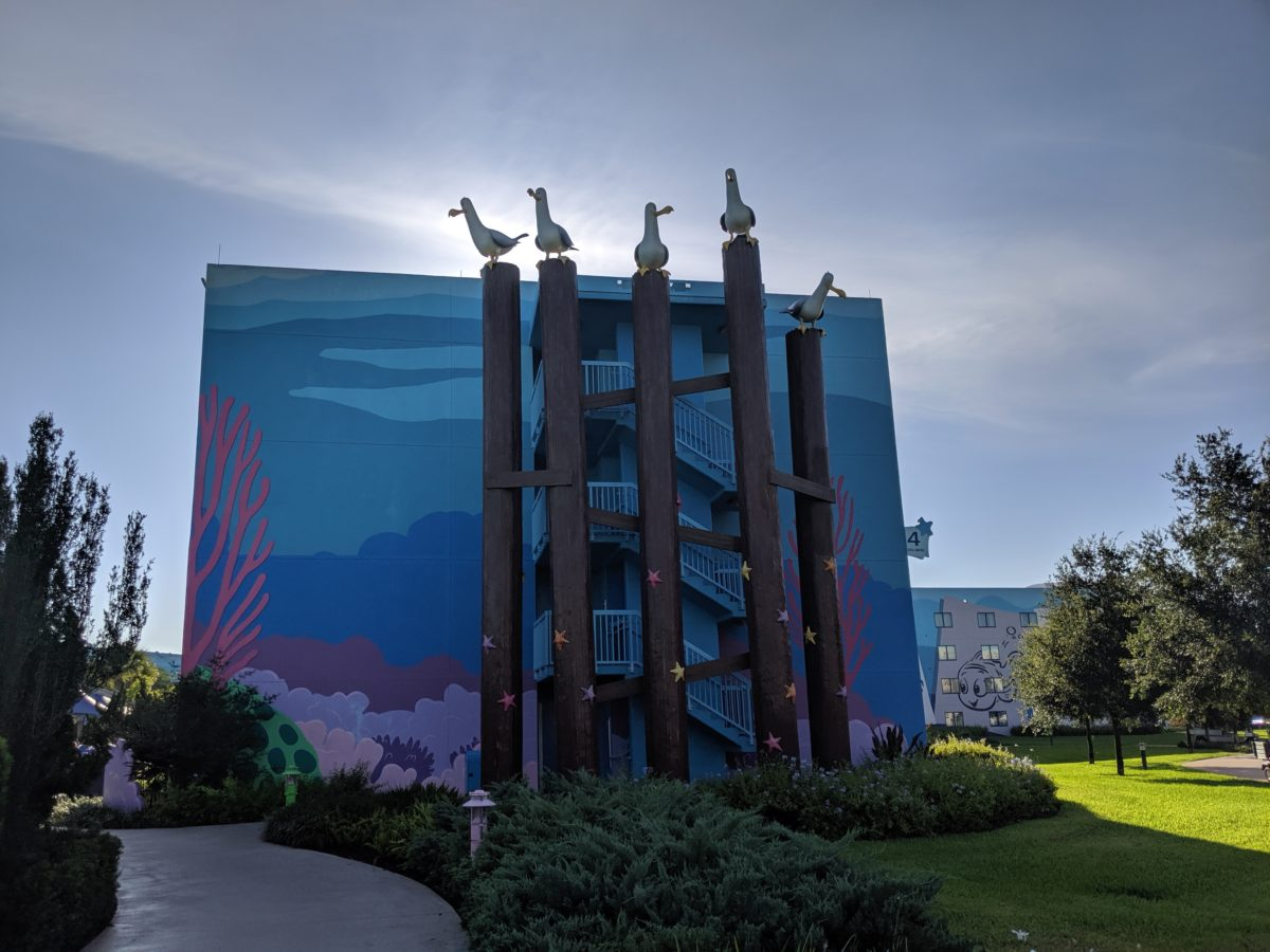 See the seagulls of Finding Nemo at Disney's Art of Animation Resort in Orlando, Florida