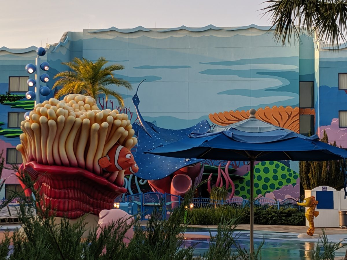 A picture of the Finding Nemo section of Disney's Art of Animation hotel in Orlando, Florida
