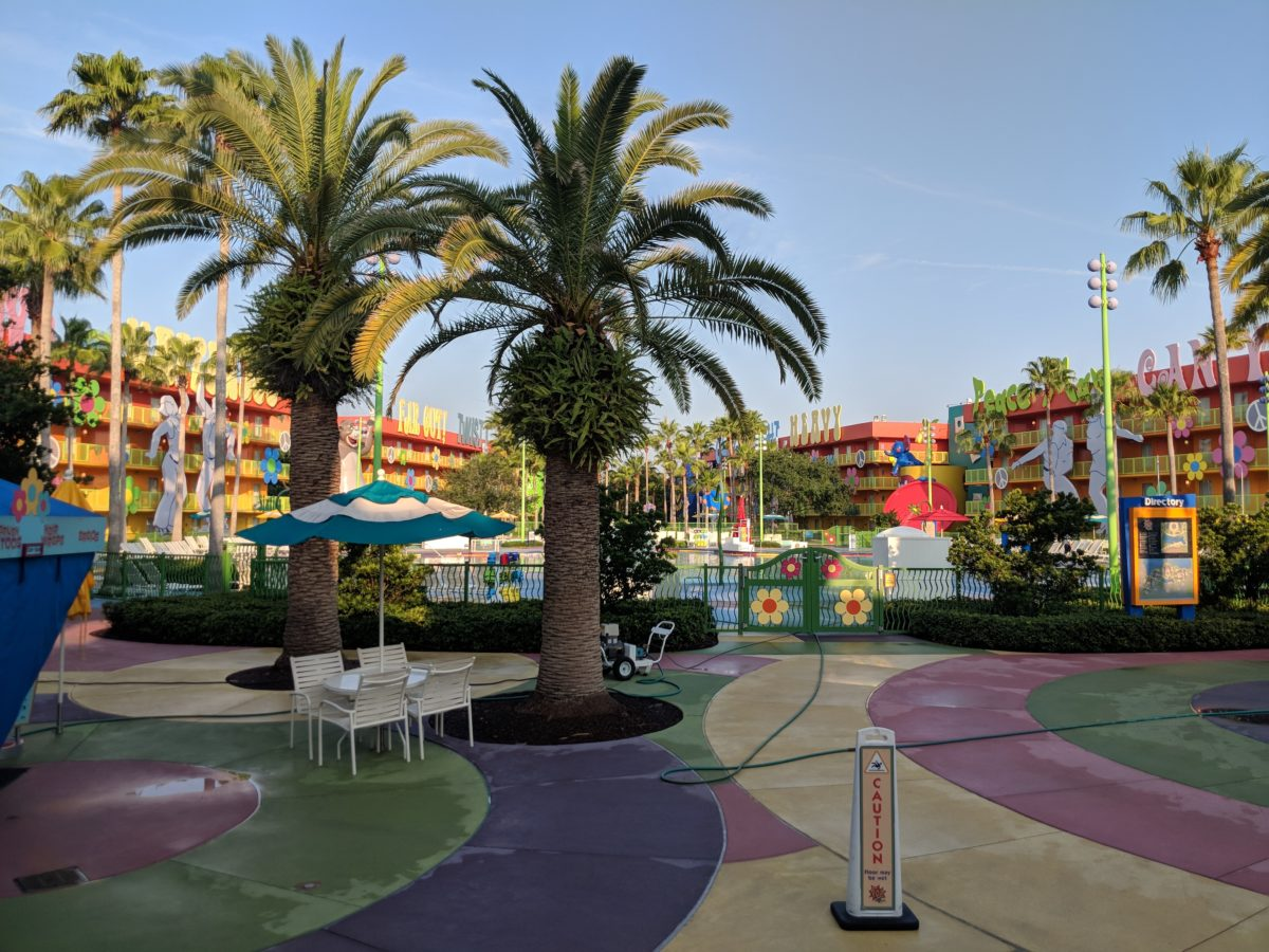 The 1960s section of Pop Century hotel at Walt Disney World in Orlando