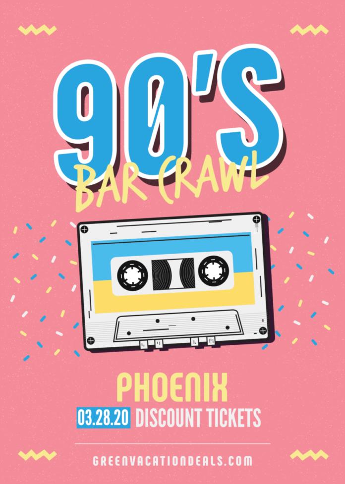Promo code for 90s Bar Crawl in Phoenix, AZ