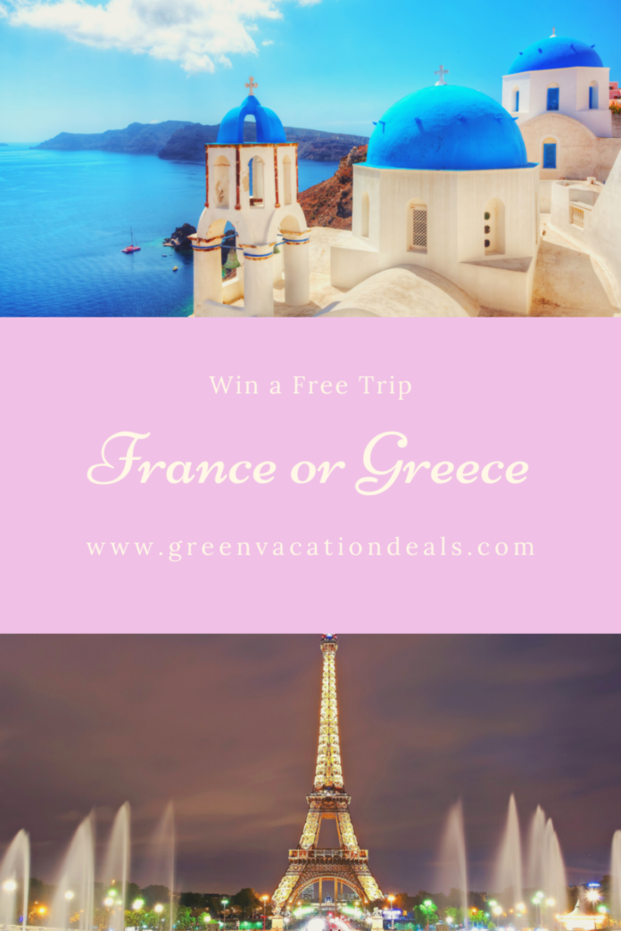 Win an Aegean tour & cruise in Greece or trip to Paris & the French countryside in France