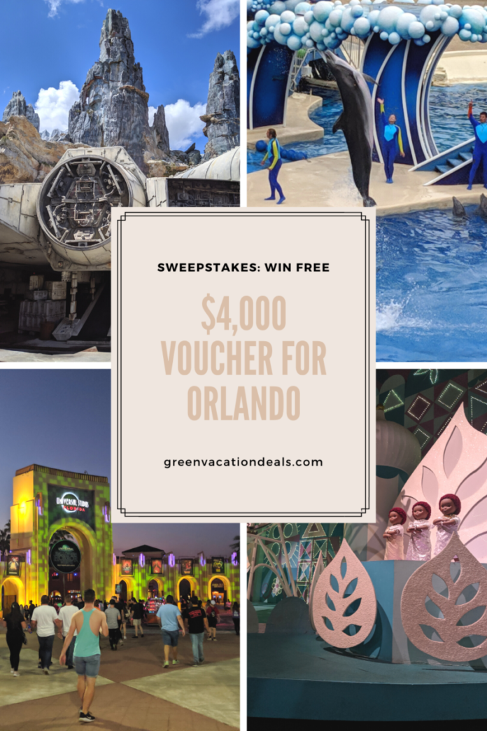 Sweesptakes for free travel to Orlando for theme parks & water parks family vacation