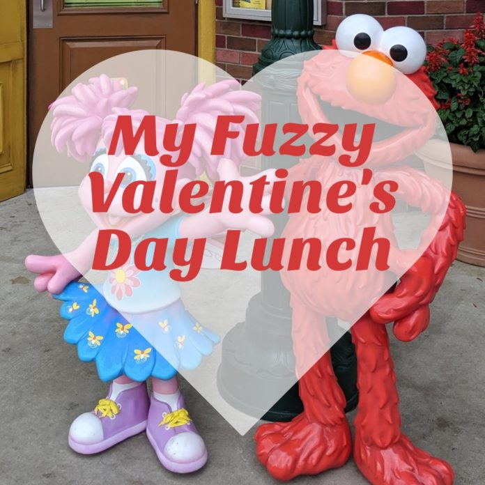 My Fuzzy Valentine's Day Lunch at Sesame Place theme park in Langhorne, Pennsylvania