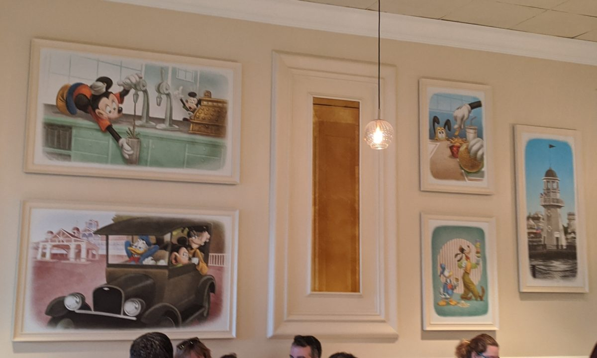A picture of the interior of Beaches & Cream Disney restaurant in Orlando, Florida
